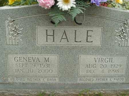 HALE, VIRGIL - Boone County, Arkansas | VIRGIL HALE - Arkansas Gravestone Photos