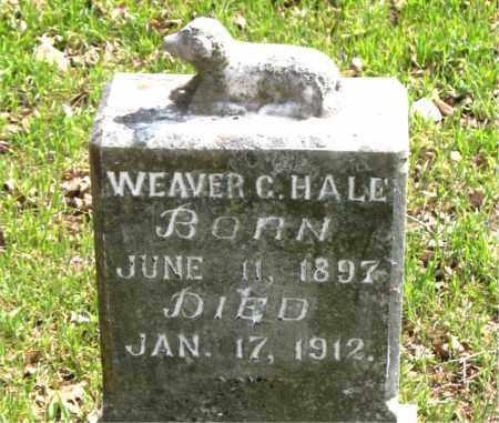 HALE, WEAVER  C. - Boone County, Arkansas | WEAVER  C. HALE - Arkansas Gravestone Photos