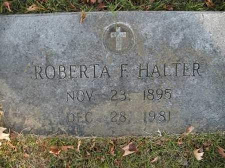 HALTER, ROBERTA F. - Boone County, Arkansas | ROBERTA F. HALTER - Arkansas Gravestone Photos