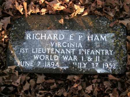 HAM  (VETERAN 2 WARS), RICHARD E.P. - Boone County, Arkansas | RICHARD E.P. HAM  (VETERAN 2 WARS) - Arkansas Gravestone Photos