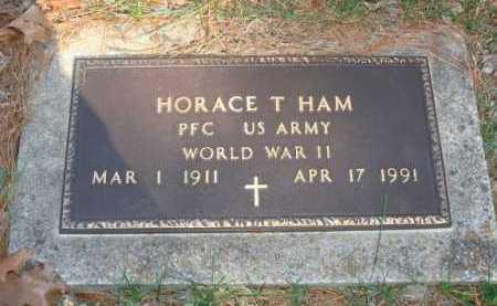 HAM  (VETERAN WWII), HORACE T. - Boone County, Arkansas | HORACE T. HAM  (VETERAN WWII) - Arkansas Gravestone Photos