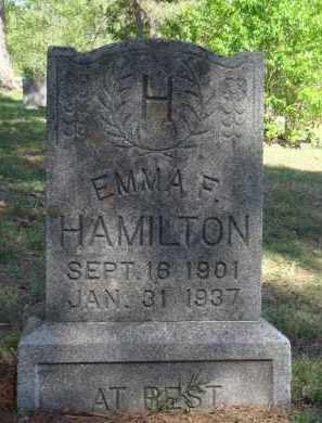 HAMILTON, EMMA F. - Boone County, Arkansas   EMMA F. HAMILTON - Arkansas Gravestone Photos
