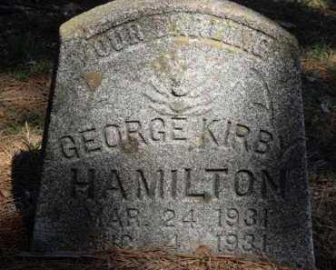 HAMILTON, GEORGE KIRBY - Boone County, Arkansas | GEORGE KIRBY HAMILTON - Arkansas Gravestone Photos