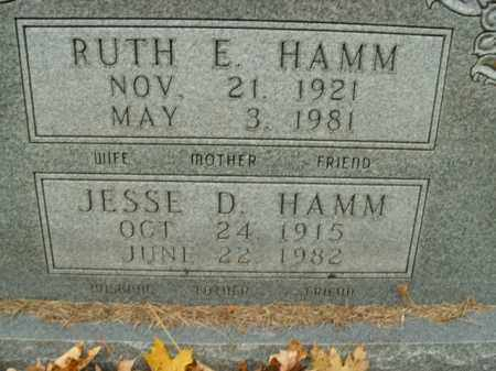 HAMM, RUTH E. - Boone County, Arkansas | RUTH E. HAMM - Arkansas Gravestone Photos