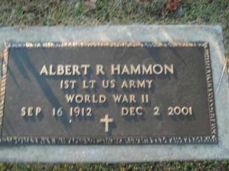 HAMMON  (VETERAN WWII), ALBERT R - Boone County, Arkansas   ALBERT R HAMMON  (VETERAN WWII) - Arkansas Gravestone Photos
