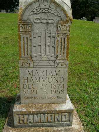 HAMMOND, MARIAM - Boone County, Arkansas   MARIAM HAMMOND - Arkansas Gravestone Photos