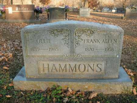 HAMMONS, FRANK ALLEN - Boone County, Arkansas   FRANK ALLEN HAMMONS - Arkansas Gravestone Photos