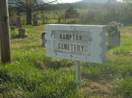 *HAMPTON SIGN, . - Boone County, Arkansas   . *HAMPTON SIGN - Arkansas Gravestone Photos
