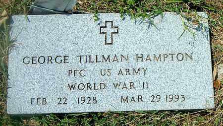 HAMPTON  (VETERAN WWII), GEORGE TILLMAN - Boone County, Arkansas | GEORGE TILLMAN HAMPTON  (VETERAN WWII) - Arkansas Gravestone Photos