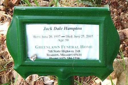 HAMPTON, JACK DALE - Boone County, Arkansas   JACK DALE HAMPTON - Arkansas Gravestone Photos