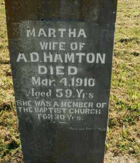HAMTON, MARTHA - Boone County, Arkansas   MARTHA HAMTON - Arkansas Gravestone Photos