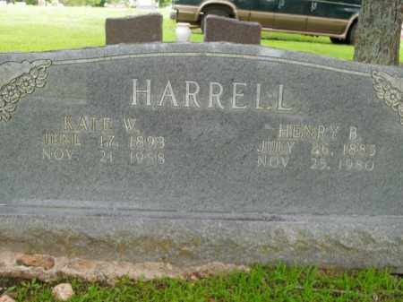 HARRELL, KATE W. - Boone County, Arkansas | KATE W. HARRELL - Arkansas Gravestone Photos