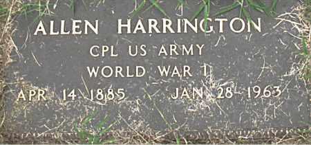 HARRINGTON (VETERAN WWI), ALLEN - Boone County, Arkansas | ALLEN HARRINGTON (VETERAN WWI) - Arkansas Gravestone Photos