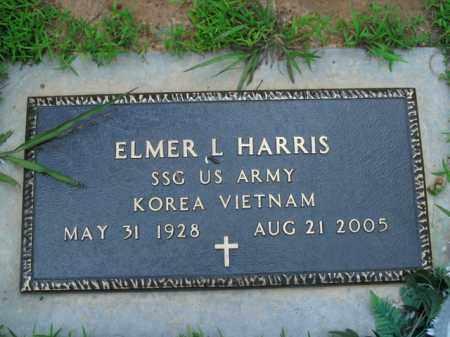 HARRIS  (VETERAN 2 WARS), ELMER L. - Boone County, Arkansas | ELMER L. HARRIS  (VETERAN 2 WARS) - Arkansas Gravestone Photos