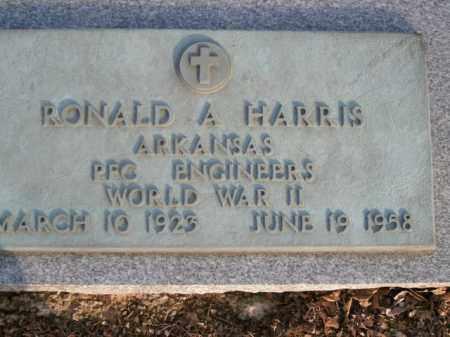 HARRIS  (VETERAN WWII), RONALD A - Boone County, Arkansas   RONALD A HARRIS  (VETERAN WWII) - Arkansas Gravestone Photos