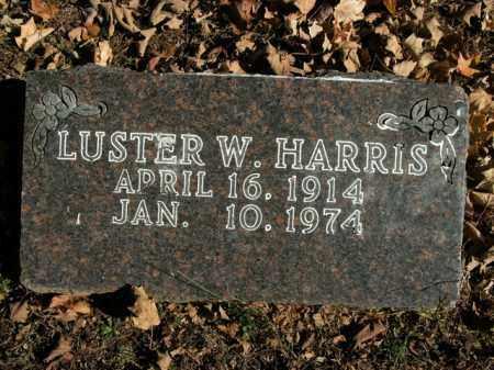 HARRIS, LUSTER W. - Boone County, Arkansas | LUSTER W. HARRIS - Arkansas Gravestone Photos