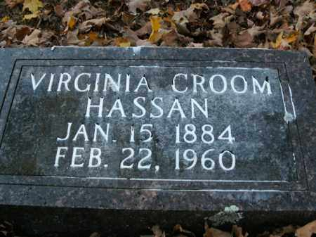 CROOM HASSAN, VIRGINIA - Boone County, Arkansas | VIRGINIA CROOM HASSAN - Arkansas Gravestone Photos