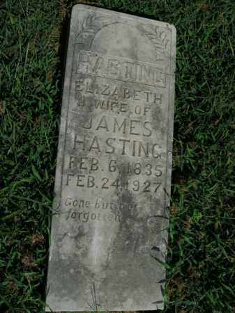 HASTING, ELIZABETH J. - Boone County, Arkansas | ELIZABETH J. HASTING - Arkansas Gravestone Photos