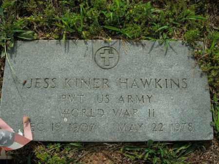 HAWKINS  (VETERAN WWII), JESS KINER - Boone County, Arkansas | JESS KINER HAWKINS  (VETERAN WWII) - Arkansas Gravestone Photos
