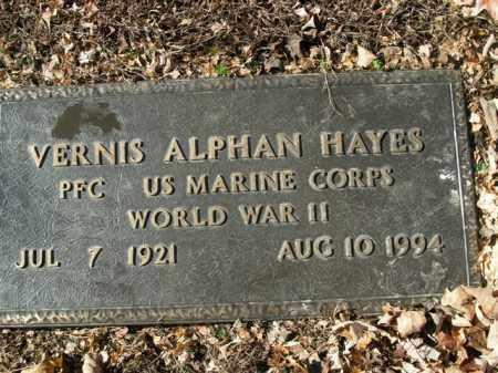 HAYES  (VETERAN WWII), VERNIS ALPHAN - Boone County, Arkansas | VERNIS ALPHAN HAYES  (VETERAN WWII) - Arkansas Gravestone Photos