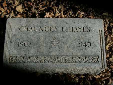 HAYES, CHAUNCEY L. - Boone County, Arkansas | CHAUNCEY L. HAYES - Arkansas Gravestone Photos