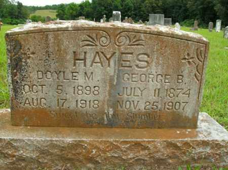 HAYES, GEORGE B. - Boone County, Arkansas | GEORGE B. HAYES - Arkansas Gravestone Photos