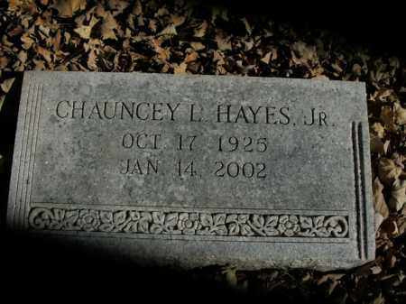 HAYES, JR, CHAUNCEY L. - Boone County, Arkansas | CHAUNCEY L. HAYES, JR - Arkansas Gravestone Photos