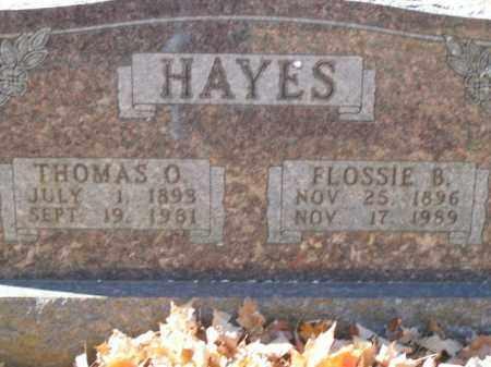 HAYES, THOMAS O. - Boone County, Arkansas | THOMAS O. HAYES - Arkansas Gravestone Photos