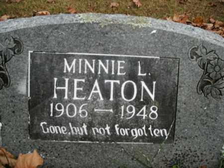 HEATON, MINNIE L. - Boone County, Arkansas   MINNIE L. HEATON - Arkansas Gravestone Photos