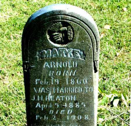 ARNOLD HEATON, MARY  E. - Boone County, Arkansas | MARY  E. ARNOLD HEATON - Arkansas Gravestone Photos