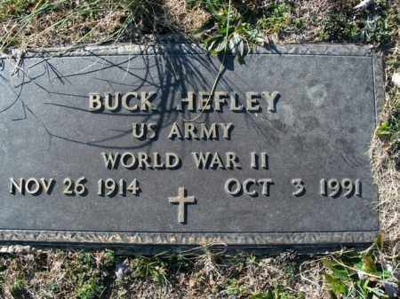 HEFLEY  (VETERAN WWII), BUCK - Boone County, Arkansas | BUCK HEFLEY  (VETERAN WWII) - Arkansas Gravestone Photos