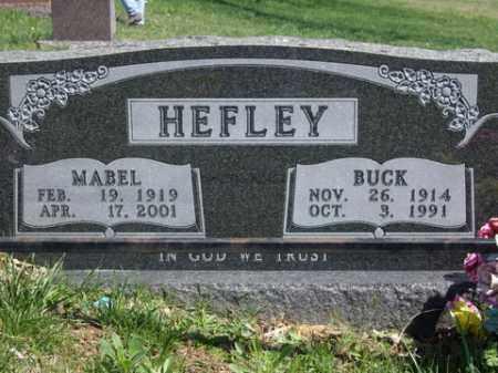 HEFLEY, BUCK - Boone County, Arkansas | BUCK HEFLEY - Arkansas Gravestone Photos