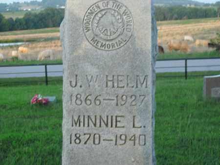 HELM, MINNIE L. - Boone County, Arkansas | MINNIE L. HELM - Arkansas Gravestone Photos