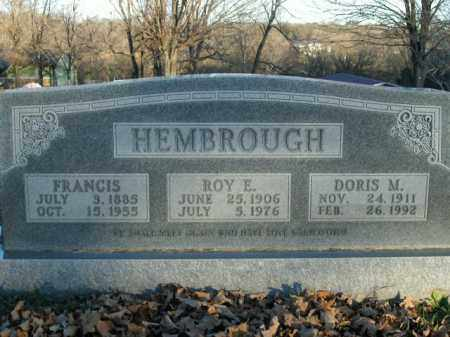 HEMBROUGH, ROY E. - Boone County, Arkansas | ROY E. HEMBROUGH - Arkansas Gravestone Photos