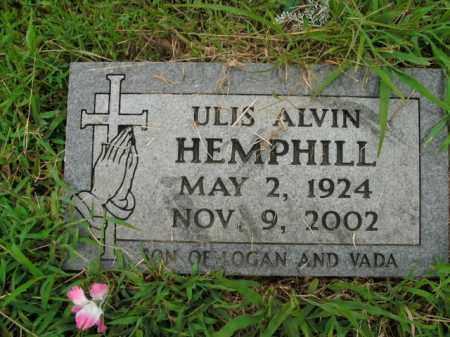 HEMPHILL, ULIS ALVIN - Boone County, Arkansas   ULIS ALVIN HEMPHILL - Arkansas Gravestone Photos