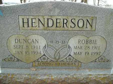 HENDERSON, ROBBIE - Boone County, Arkansas | ROBBIE HENDERSON - Arkansas Gravestone Photos