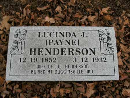 PAYNE HENDERSON, LUCINDA J. - Boone County, Arkansas | LUCINDA J. PAYNE HENDERSON - Arkansas Gravestone Photos