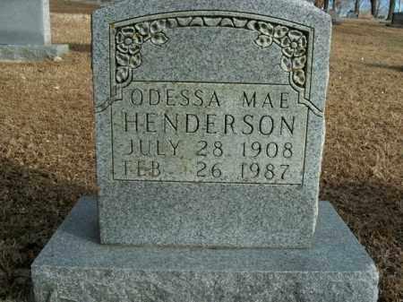 HENDERSON, ODESSA MAE - Boone County, Arkansas   ODESSA MAE HENDERSON - Arkansas Gravestone Photos