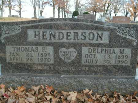 HENDERSON, THOMAS F. - Boone County, Arkansas | THOMAS F. HENDERSON - Arkansas Gravestone Photos