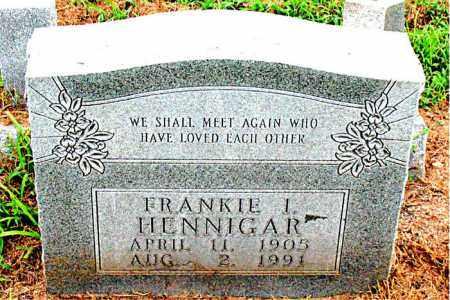 HENNIGAR, FRANKIE I. - Boone County, Arkansas | FRANKIE I. HENNIGAR - Arkansas Gravestone Photos
