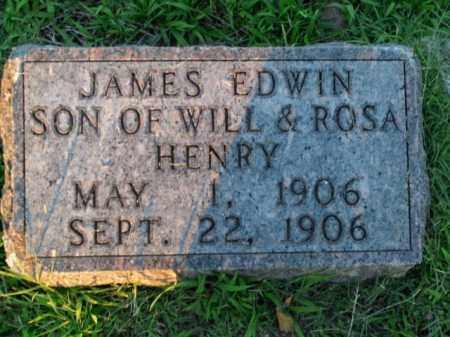 HENRY, JAMES EDWIN - Boone County, Arkansas | JAMES EDWIN HENRY - Arkansas Gravestone Photos