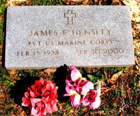 HENSLEY  (VETERAN), JAMES F - Boone County, Arkansas | JAMES F HENSLEY  (VETERAN) - Arkansas Gravestone Photos