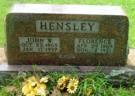 HENSLEY, JOHN W. - Boone County, Arkansas   JOHN W. HENSLEY - Arkansas Gravestone Photos