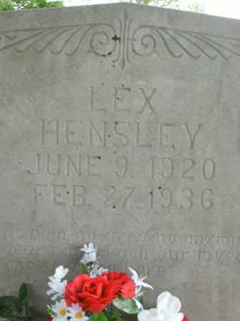 HENSLEY, LEX - Boone County, Arkansas   LEX HENSLEY - Arkansas Gravestone Photos