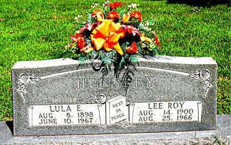 HENSLEY, LULA E. - Boone County, Arkansas | LULA E. HENSLEY - Arkansas Gravestone Photos
