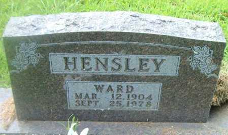 HENSLEY, WARD - Boone County, Arkansas   WARD HENSLEY - Arkansas Gravestone Photos