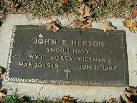 HENSON  (VETERAN 3 WARS), JOHN E - Boone County, Arkansas | JOHN E HENSON  (VETERAN 3 WARS) - Arkansas Gravestone Photos