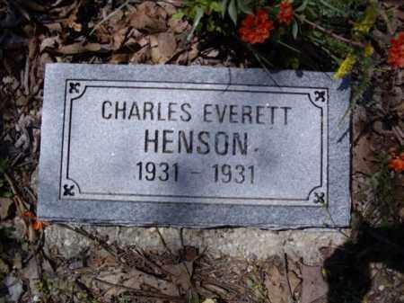 HENSON, CHARLES EVERETT - Boone County, Arkansas | CHARLES EVERETT HENSON - Arkansas Gravestone Photos