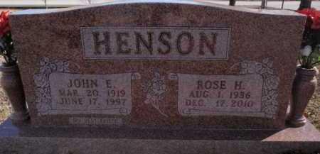 HENSON, JOHN E. - Boone County, Arkansas | JOHN E. HENSON - Arkansas Gravestone Photos