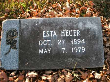 HEUER, ESTA - Boone County, Arkansas | ESTA HEUER - Arkansas Gravestone Photos